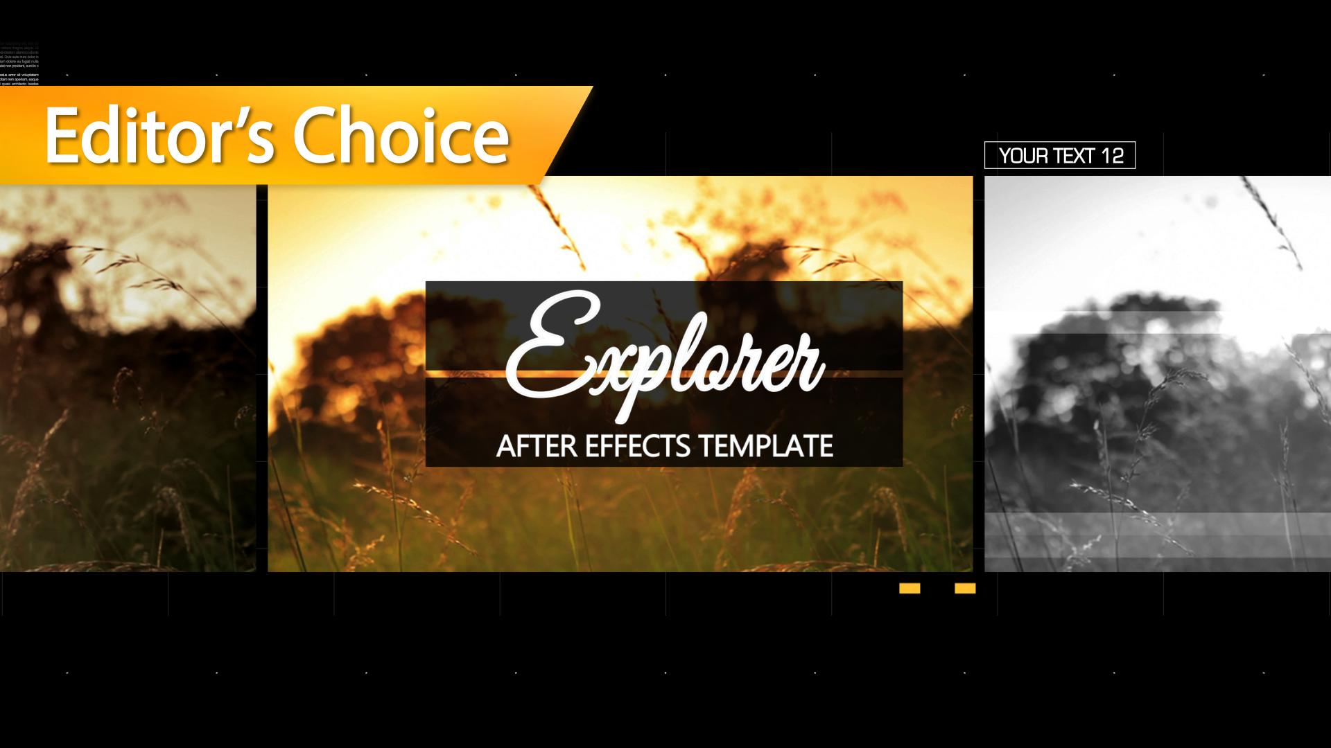 explorer after effects template. Black Bedroom Furniture Sets. Home Design Ideas