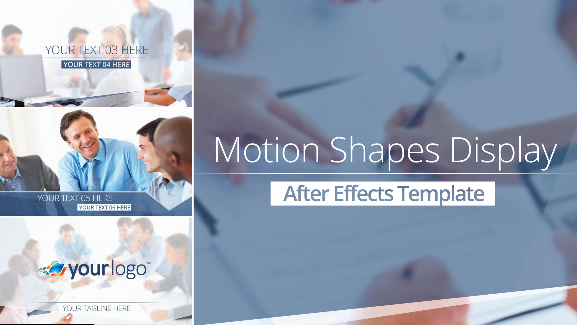 motion shapes display after effects template. Black Bedroom Furniture Sets. Home Design Ideas