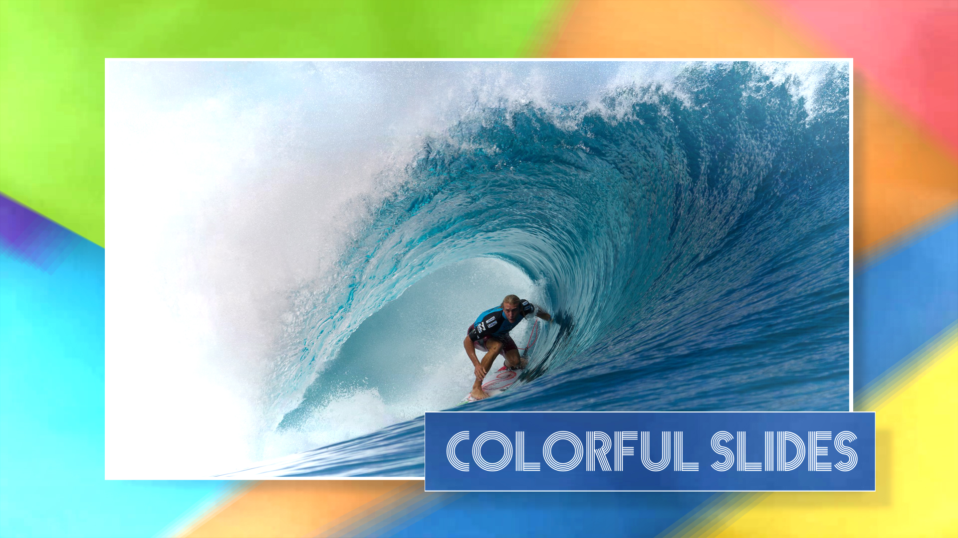 Colorful Slides After Effects Template
