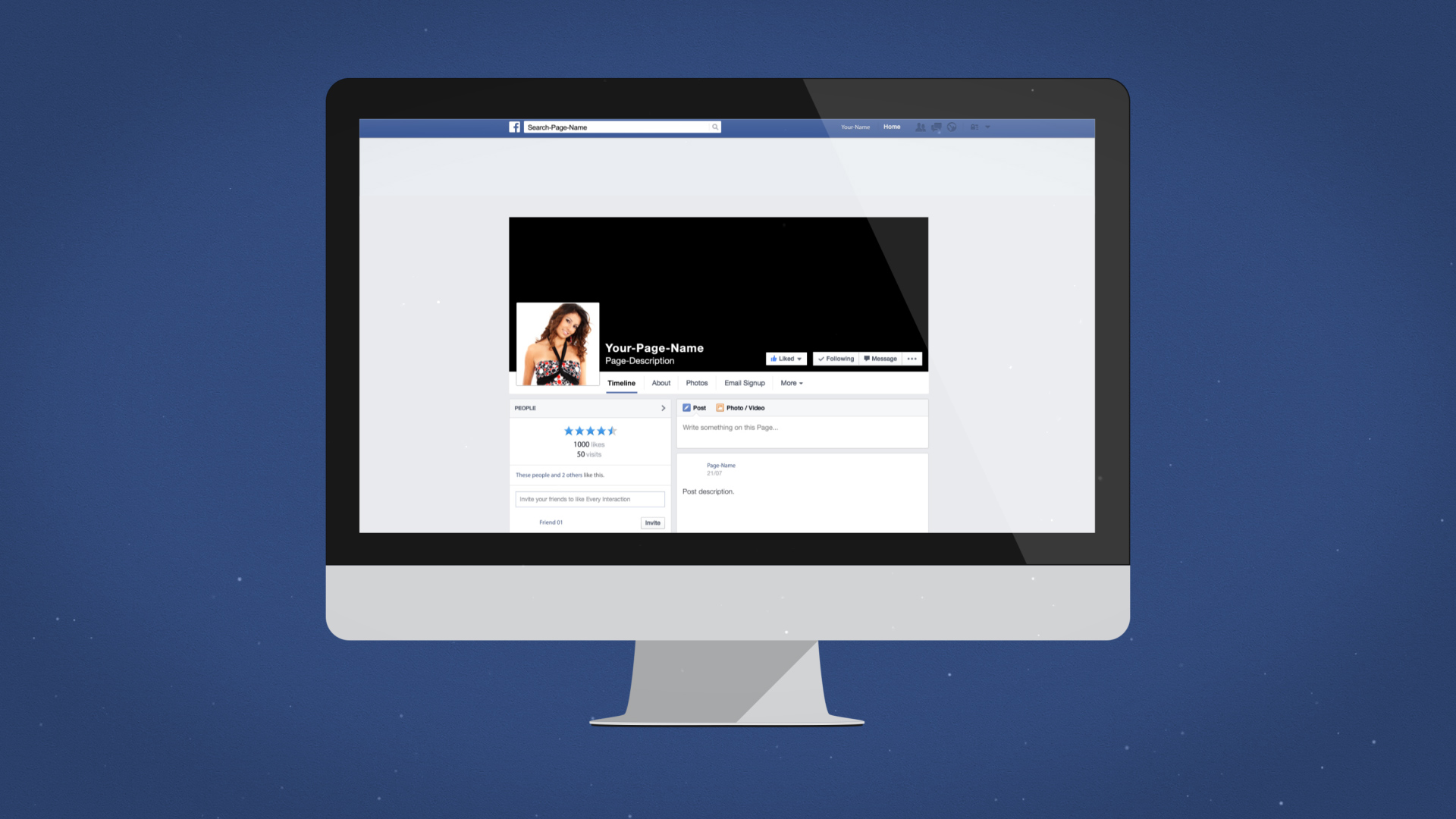 facebook desktop intro after effects template. Black Bedroom Furniture Sets. Home Design Ideas