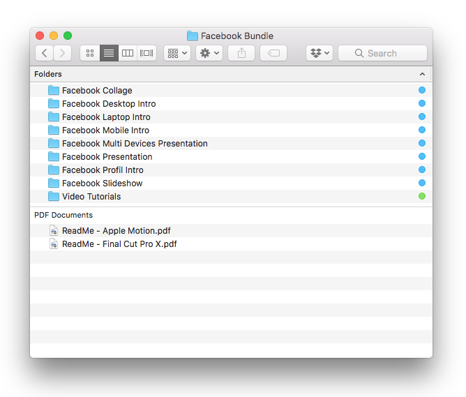 Facebook Bundle for Final Cut Pro X and Apple Motion 5